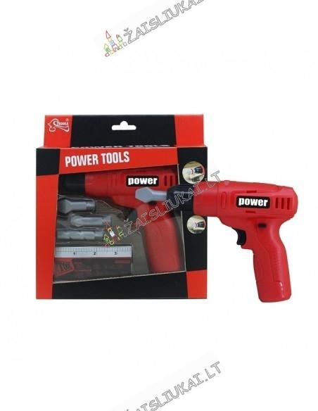 """Vaikiškas elektrinis atsuktuvas """"Power Tools"""""""