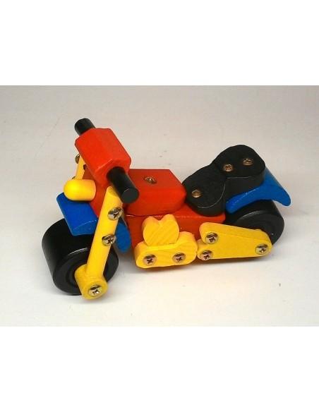 Berniukų konstruktorius - medinis surenkamas motociklas