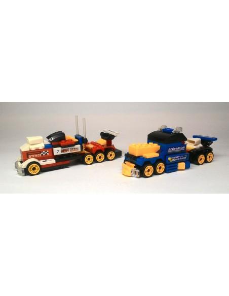 4 sportinės mašinos arba 2 įspūdingi sunkvežimiai
