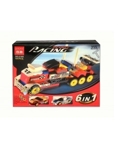 Lego analogas - 4 sportinės mašinos arba 2 įspūdingi sunkvežimiai