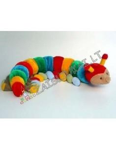 Minkštas žaislas spalvotas šimtakojis