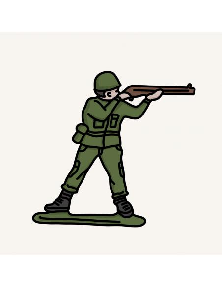 Kariniai žaislai - kareivėliai, šautuvai, ir karinė technika